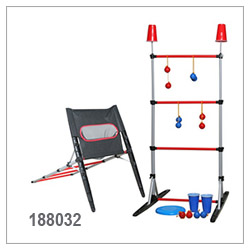 3 In 1 Game Set, Ladderball, Disc Toss, Target Toss