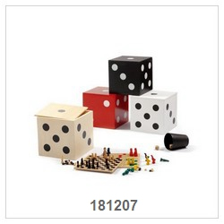 6 In 1 Game Set In Wood Box