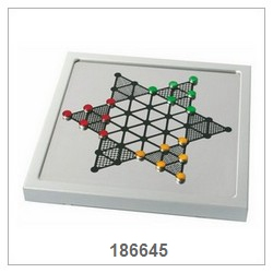 Alu. Magnetic Chinese Checkers Game Set