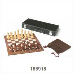 Backgammon Game Set In Leather Box
