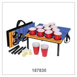 Beer Pong With Shelf