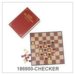 Checker Game Set In Paper Book Box