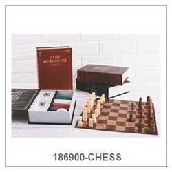 Chess Game Set In Paper Book Box