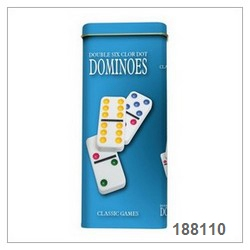 Dominoes In Tin Box Game