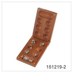 Mancala With Color Stones-2