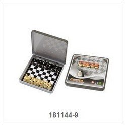 Mini Chess Game In Square Tin Box