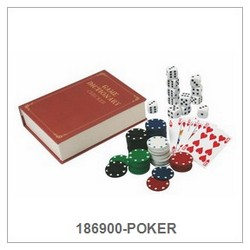 Poker Game Set In Paper Book Box