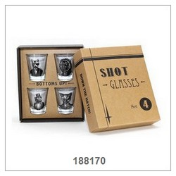 Shot Glass 4 Pcs Set